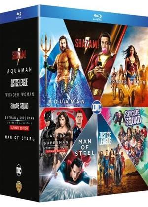 Shazam! / Aquaman / Justice League / Wonder Woman / Suicide Squad / Batman v Superman / Man of Steel (7 Blu-rays)