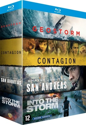 Geostorm / Contagion / San Andreas / Into the Storm - Black Storm (4 Blu-rays)