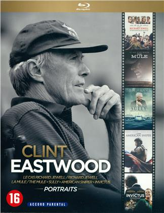 Clint Eastwood - Portraits - Le cas Richard Jewell / La Mule / Sully / American Sniper / Invictus (5 Blu-rays)