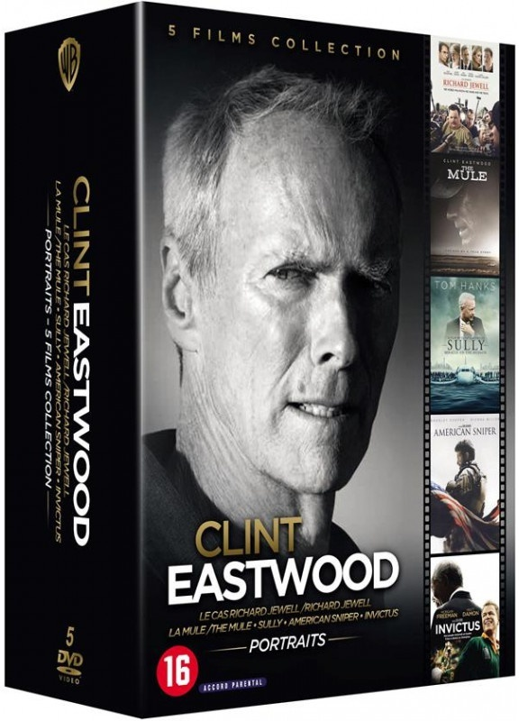Clint Eastwood - Le cas Richard Jewell / La Mule / Sully / American Sniper / Invictus (5 DVD)