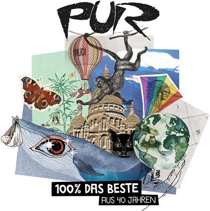 Pur - 100% Das Beste Aus 40 Jahren - inkl. 3 neuen Songs und Megamix (Deluxe Edition, 3 CDs)