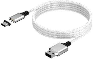 KONIX - Mythics Magnetic USB Charge Cable 3m - white