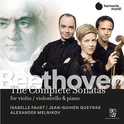 Jean-Guihen Queyras, Ludwig van Beethoven (1770-1827), Isabelle Faust & Alexander Melnikov - The Complete Sonatas For Violin, Violoncello & Piano (6 CDs)
