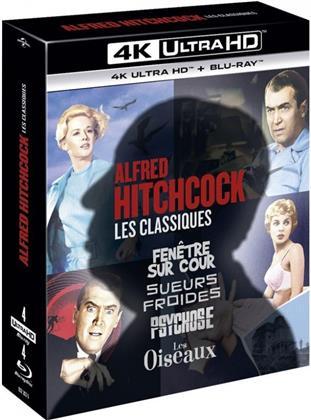 Alfred Hitchcock - Les Classiques - Fenêtre sur cour / Sueurs froides / Psychose / Les Oiseaux (4 4K Ultra HDs + 4 Blu-rays)