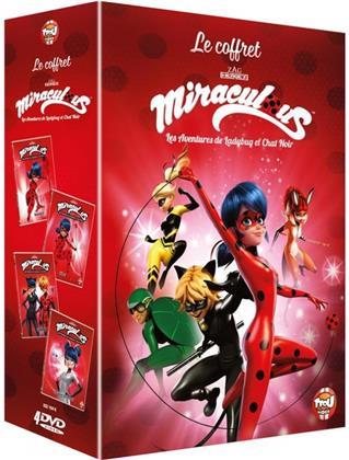 Miraculous - Les aventures de LadyBug et Chat Noir - Le Coffret - Vol. 12-15 (4 DVDs)