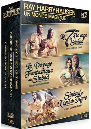 Ray Harryhausen - Un monde magique - Le 7ème voyage de Sinbad / Le voyage fantastique de Sinbad / Sinbad et l'oeil du tigre (3 DVDs)