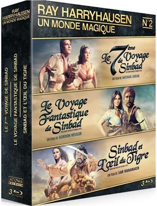 Ray Harryhausen - Un monde magique - Le 7ème voyage de Sinbad / Le voyage fantastique de Sinbad / Sinbad et l'oeil du tigre (3 Blu-rays)
