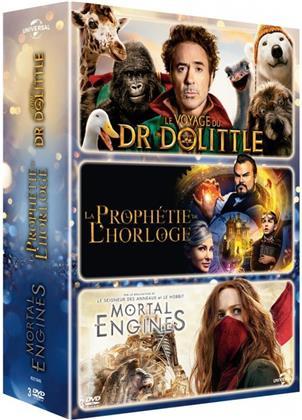 Le voyage du Dr Dolittle / La prophétie de l'horloge / Mortal Engines (3 DVDs)
