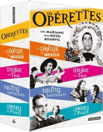 Les Opérettes - Le chanteur de Mexico / Lumières de Paris / Violettes impériales / Sérénade au Texas (4 DVDs)