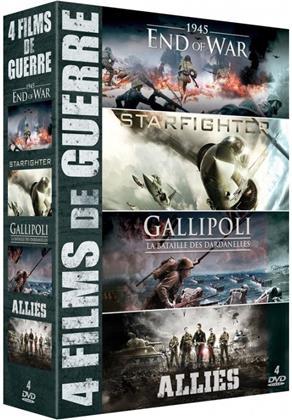 4 Films de Guerre - 1945 - End of War / Starfighter / Gallipoli - La bataille des Dardanelles / Alliés (4 DVDs)