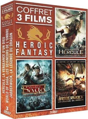 Heroic Fantasy - Hercule, la vengeance d'un dieu / World of Saga, les seigneurs de l'ombre / Jabberwock, la légende du dragon (3 DVDs)