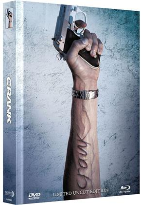 Crank (2006) (Cover A, Extended Edition, Collector's Edition Limitata, Mediabook, Uncut, Blu-ray + DVD)