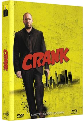 Crank (2006) (Cover C, Extended Edition, Limited Collector's Edition, Mediabook, Uncut, Blu-ray + DVD)