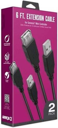 Armor3 6Ft Extension Cable FOR SEGA Genesis Mini Controller