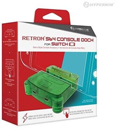Retron S64 Console Dock - Lime Green for Nintendo Switch