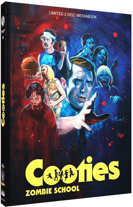 Cooties - Zombie School (2014) (Cover A, Limited Edition, Mediabook, Blu-ray + DVD)