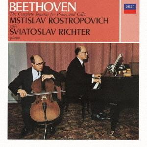 Ludwig van Beethoven (1770-1827), Mstislav Rostropovich & Sviatoslav Richter - Sonatas For Piano & Cello (UHQCD, 2020 Reissue, MQA CD, Japan Edition)