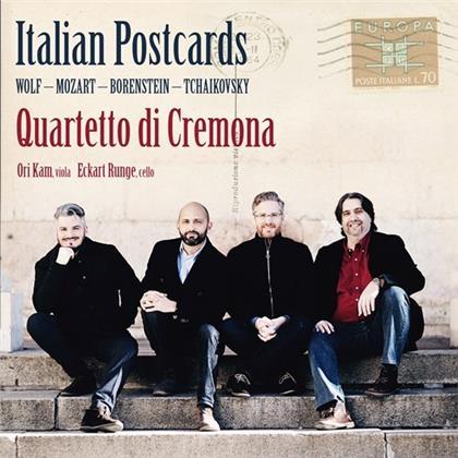 Quartetto di Cremona, Hugo Wolf (1860-1903), Wolfgang Amadeus Mozart (1756-1791), Nimrod Borenstein (*1969), Peter Iljitsch Tschaikowsky (1840-1893), … - Italian Postcards