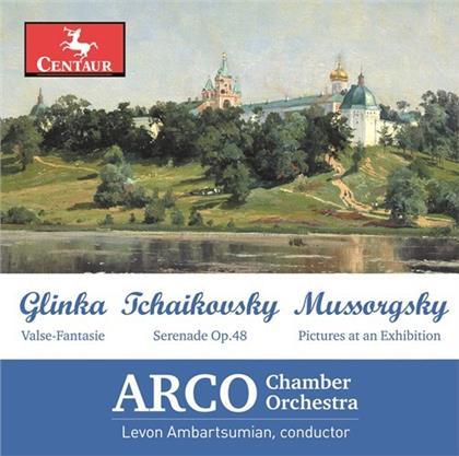 Arco Chamber Orchestra, Michail Glinka (1804-1857), Peter Iljitsch Tschaikowsky (1840-1893), Modest Mussorgsky (1839-1881) & Levon Ambartsumian - Valse-Fantasie / Serenade