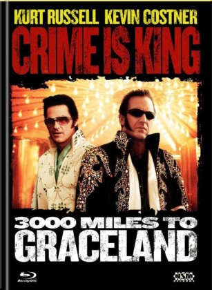 Crime is King - 3000 Miles to Graceland (2001) (Cover A, Limited Edition, Mediabook, Blu-ray + DVD)