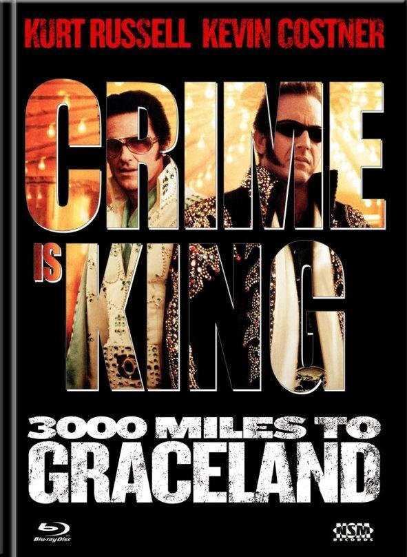 Crime is King - 3000 Miles to Graceland (2001) (Cover B, Limited Edition, Mediabook, Blu-ray + DVD)