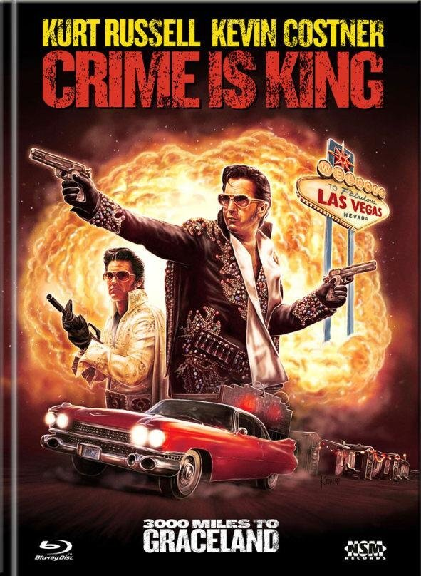 Crime is King - 3000 Miles to Graceland (2001) (Cover C, Limited Edition, Mediabook, Blu-ray + DVD)