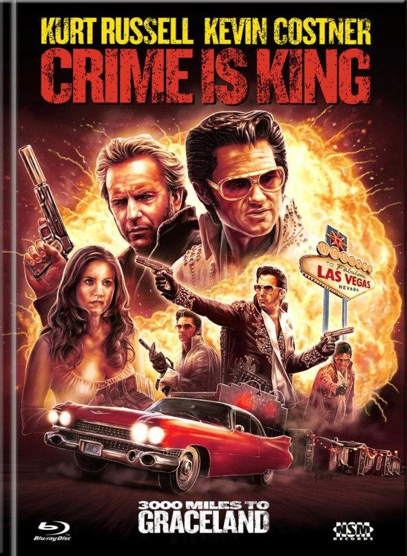 Crime is King - 3000 Miles to Graceland (2001) (Cover D, Limited Edition, Mediabook, Blu-ray + DVD)