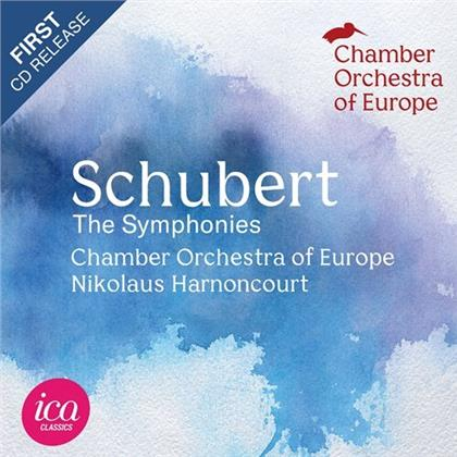 Franz Schubert (1797-1828), Nikolaus Harnoncourt & Chamber Orchestra Of Europe - The Symphonies