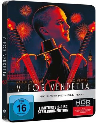 V wie Vendetta (2005) (Limited Edition, Steelbook, 4K Ultra HD + Blu-ray)