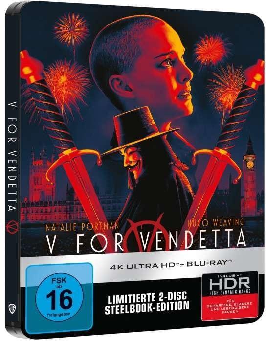 V wie Vendetta (2005) (Limited Edition, Steelbook, 4K Ultra HD + Blu-ray)