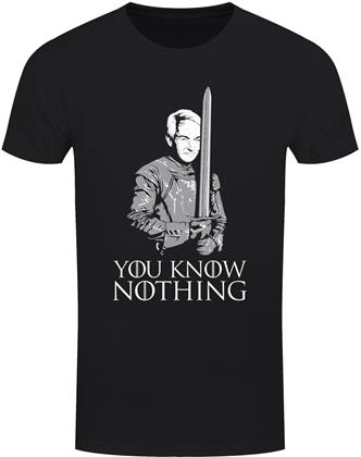 You Know Nothing Politicians Men's Black T-Shirt