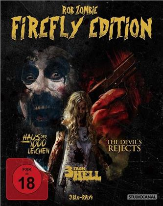 Rob Zombie Firefly Edition - Haus der 1000 Leichen / The Devil's Rejects / 3 From Hell (3 Blu-rays)