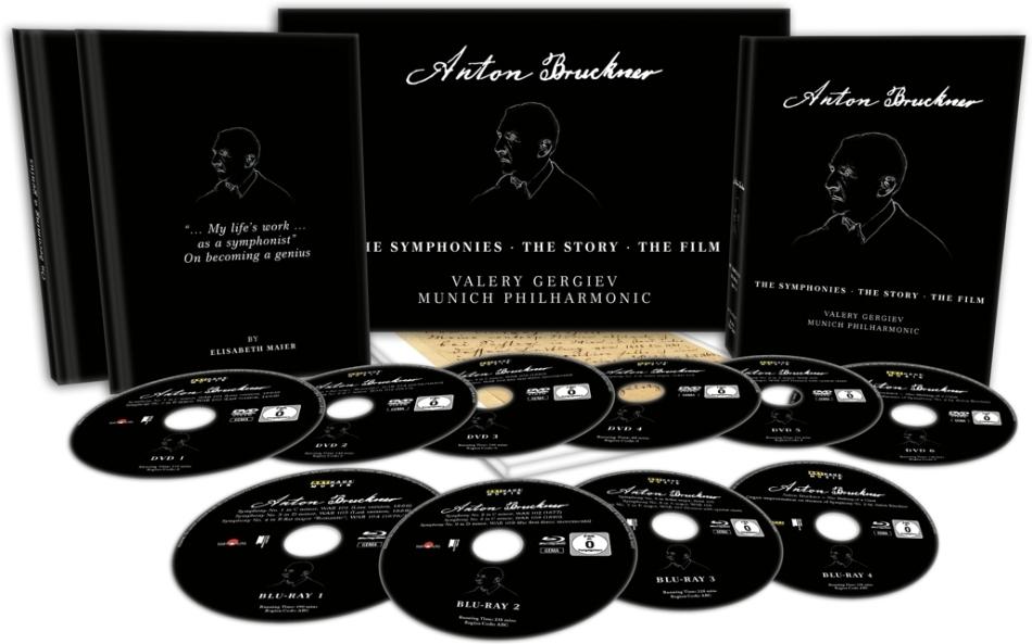Münchner Philharmoniker MP & Valery Gergiev - Anton Bruckner - The Symphonies - The Story - The Film (4 Blu-rays + 6 DVDs)