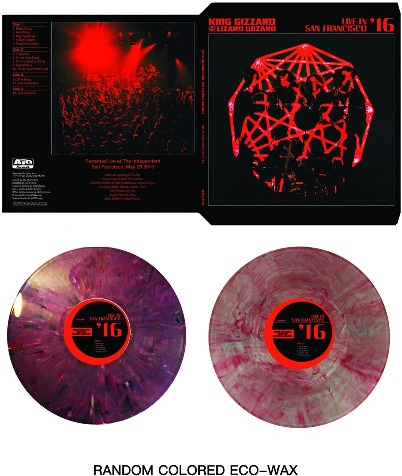 King Gizzard & The Lizard Wizard - Live In San Francisco 16 (Limited, Randomly Colored Vinyl, 2 LPs)