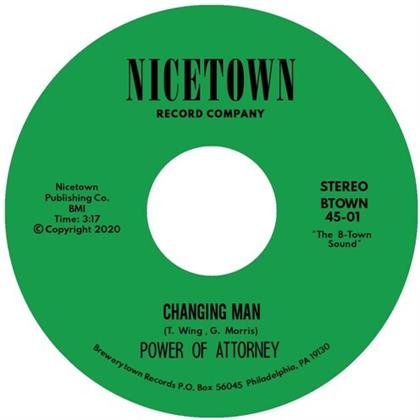 """Power Of Attorney - Changing Man / I'm Just Your Clown (7"""" Single)"""
