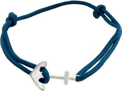 Armband - Armband mit Ankeranhänger (versilbert)