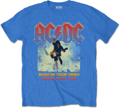 AC/DC Unisex Tee - Blow Up Your Video - Grösse S