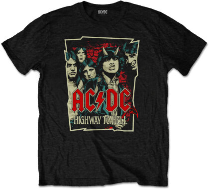 AC/DC Unisex Tee - Highway To Hell Sketch