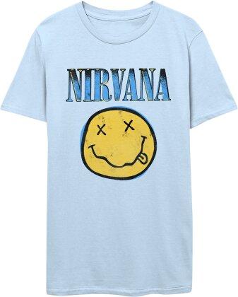 Nirvana: Xerox Smiley - Men's Light Blue T-Shirt