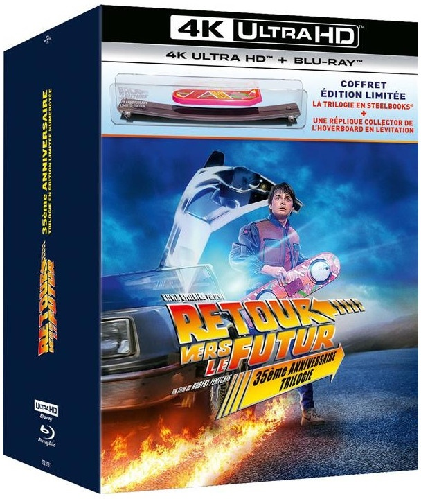 Retour vers le futur - Trilogie (35th Anniversary Edition, Limited Collector's Edition, Steelbook, 3 4K Ultra HDs + 4 Blu-rays)