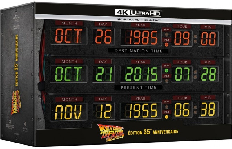 Retour vers le futur - Trilogie (+ Goodies, 35th Anniversary Edition, Limited Collector's Edition, Steelbook, 3 4K Ultra HDs + 4 Blu-rays)