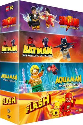 LEGO: DC Comics Super Heroes - Shazam! - Monstres et magie / Batman - Un histoire de famille / Aquaman - Rage of Atlantis / The Flash (4 DVD)