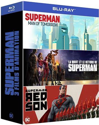 Superman - 3 Films d'Animation - Superman - Man of Tomorrow / La mort et le retour de Superman / Superman - Red Son (3 Blu-ray)