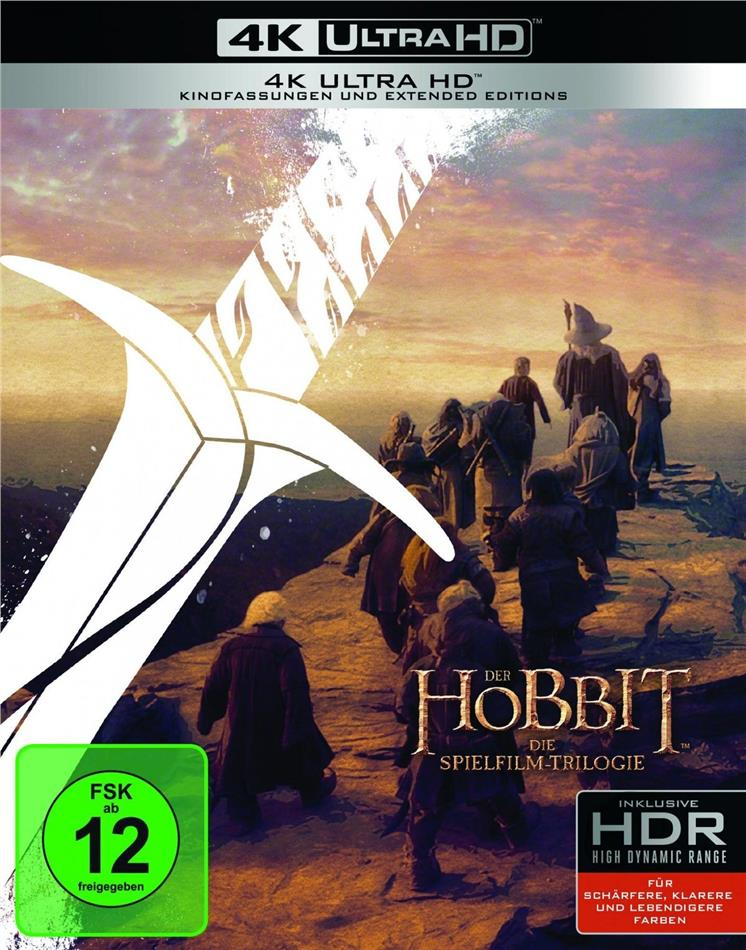 Der Hobbit - Trilogie (Extended Edition, 3 4K Ultra HDs + 3 Blu-rays)
