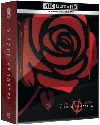 V pour Vendetta (2005) (Titans of Cult, Limited Edition, Steelbook, 4K Ultra HD + Blu-ray)