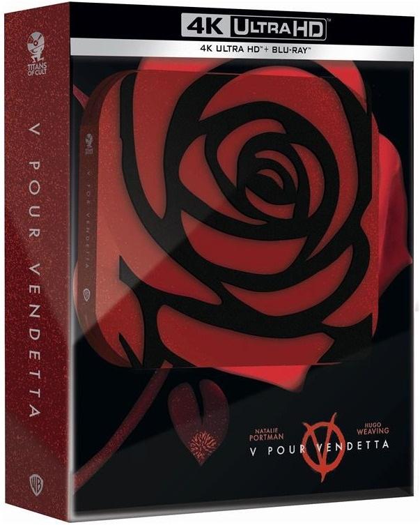 V pour Vendetta (2005) (Titans of Cult, Limited Edition, Steelbook, 4K Ultra HD + Blu-ray)