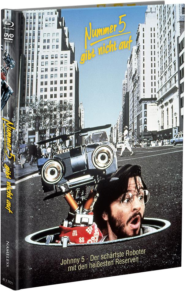 Nummer 5 gibt nicht auf (1988) (Cover A, Limited Edition, Mediabook, Blu-ray + DVD)