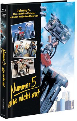 Nummer 5 gibt nicht auf (1988) (Cover B, Limited Edition, Mediabook, Blu-ray + DVD)