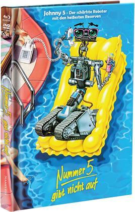 Nummer 5 gibt nicht auf (1988) (Cover C, Limited Edition, Mediabook, Blu-ray + DVD)