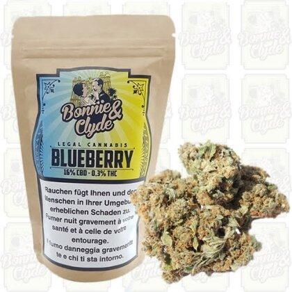 Bonnie & Clyde Blueberry (8.4g) - (16% CBD 0.5% THC)